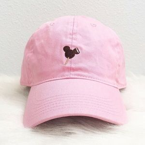 mickey mouse disney ice cream pink dad hat